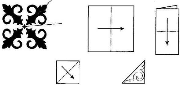 Как сделать с бумаги узоры